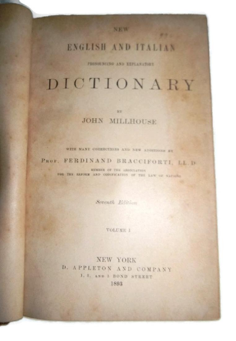 3 EARLY 19TH C FINE ART & LANGUAGE DICTIONARIES - 4