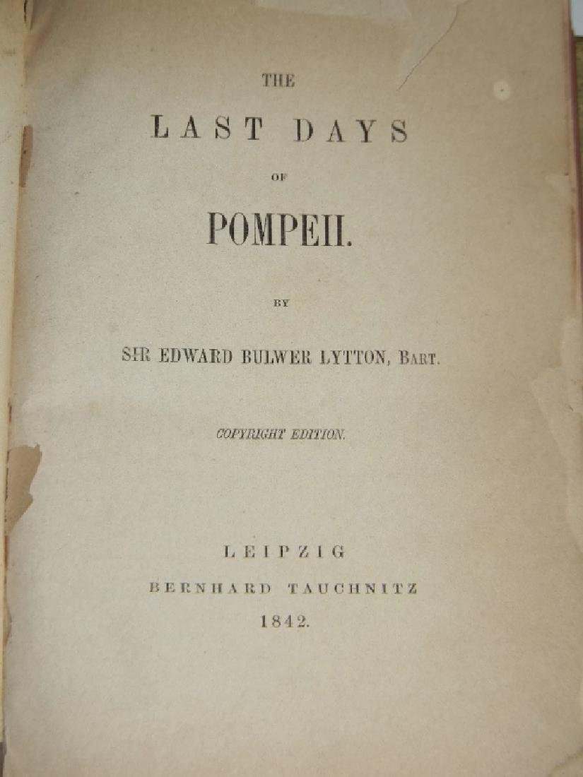 1842 THE LAST DAYS OF POMPEII VELLUM BINDING +1 - 3
