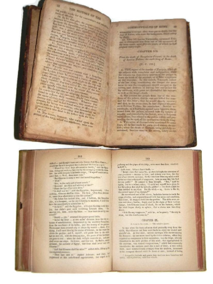 1842 THE LAST DAYS OF POMPEII VELLUM BINDING +1 - 7