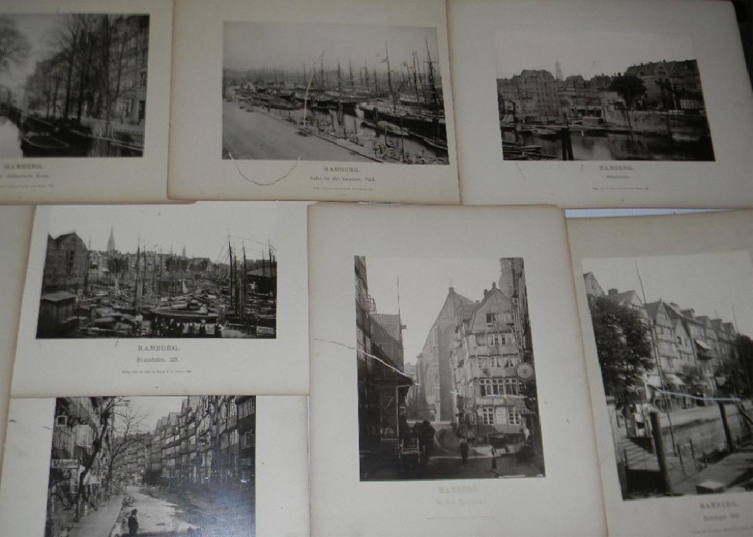 1888 SOUVENIR PHOTOGRAPHS HAMBURG GERMANY - 3
