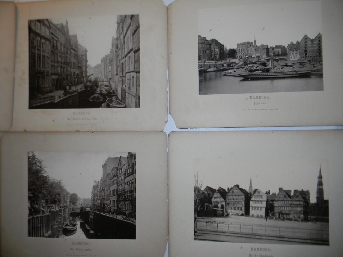 1888 SOUVENIR PHOTOGRAPHS HAMBURG GERMANY - 4