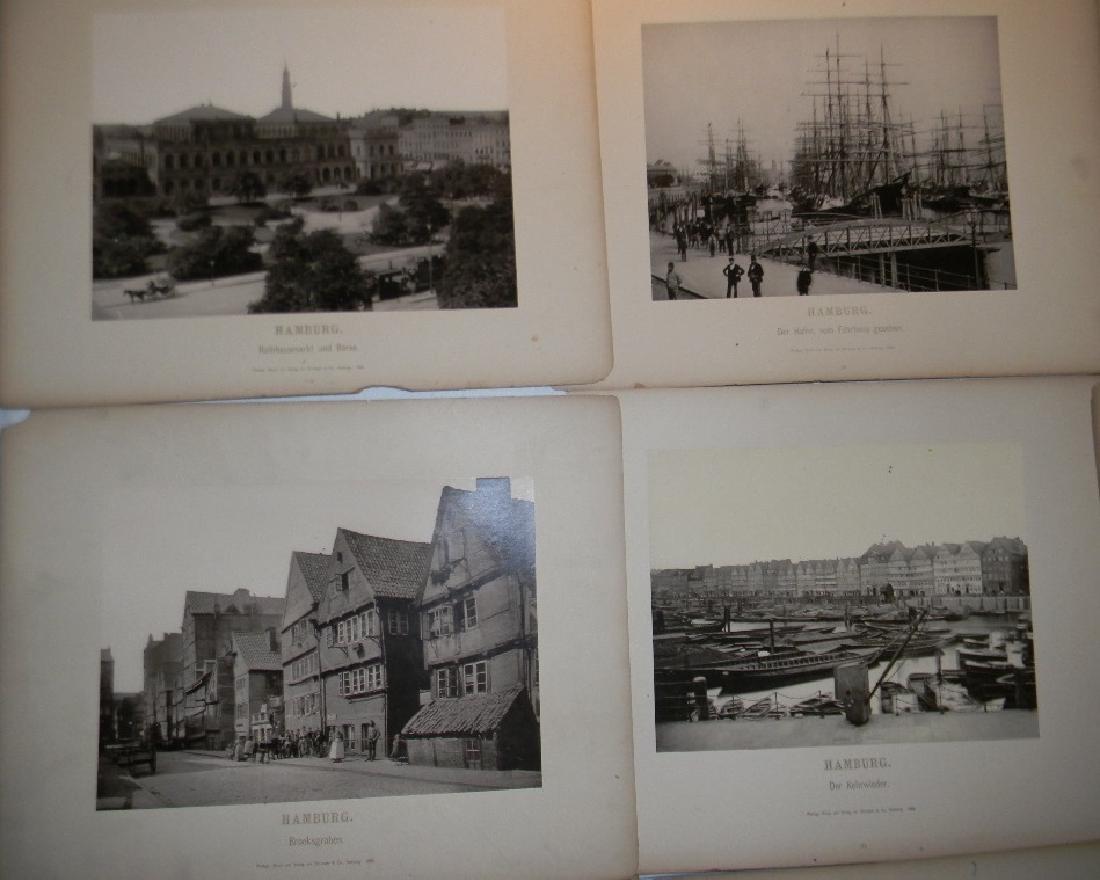 1888 SOUVENIR PHOTOGRAPHS HAMBURG GERMANY - 5