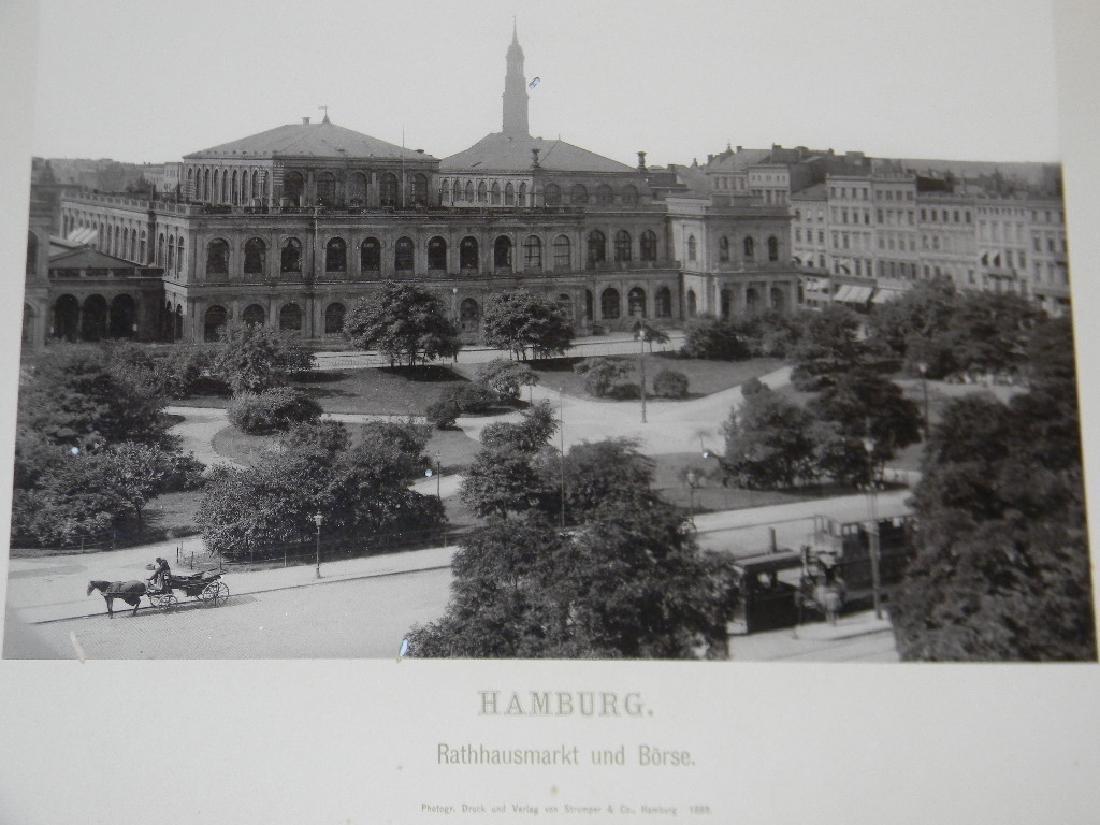 1888 SOUVENIR PHOTOGRAPHS HAMBURG GERMANY - 6