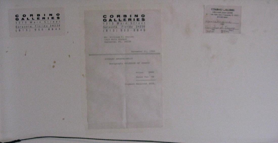 RICHARD ANUSZKIEWICZ OP ART SIGNED SILKSCREEN 1978 - 8