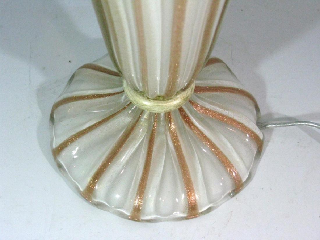 "BAROVIER MURANO GLASS TRUMPET MOUTH LAMP 16.5""h - 5"
