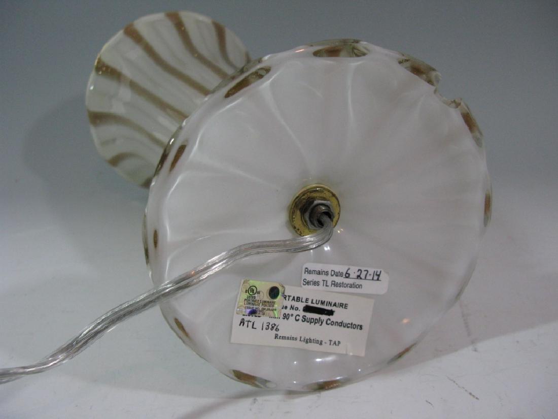"BAROVIER MURANO GLASS TRUMPET MOUTH LAMP 16.5""h - 7"
