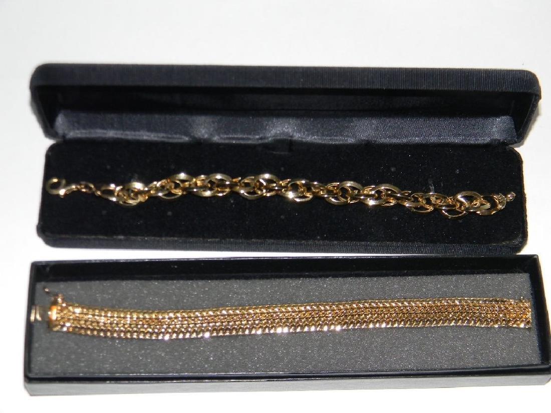 ITALIAN GOLD OVER STERLING SILVER BRACELETS - 9