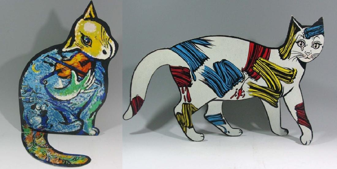 DAVID GERSTEIN POP ART METAL CAT SCULPTURES