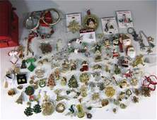 LARGE CHRISTMAS THEMED JEWELRY COLLECTION