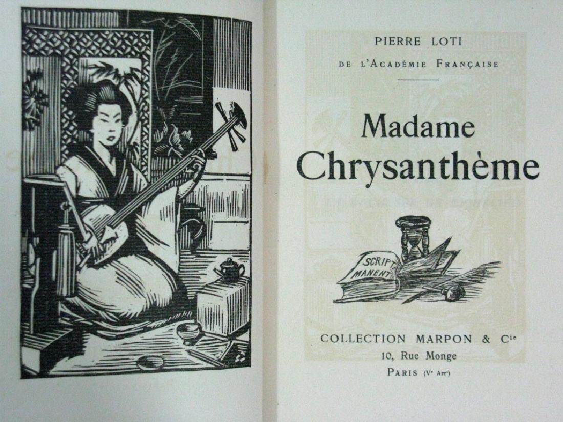 RARE BOOK P. LOTI MADAME CHRYSANTHEME WOODCUT