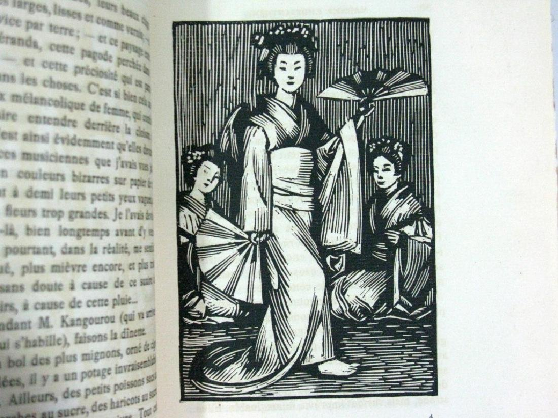 RARE BOOK P. LOTI MADAME CHRYSANTHEME WOODCUT - 5