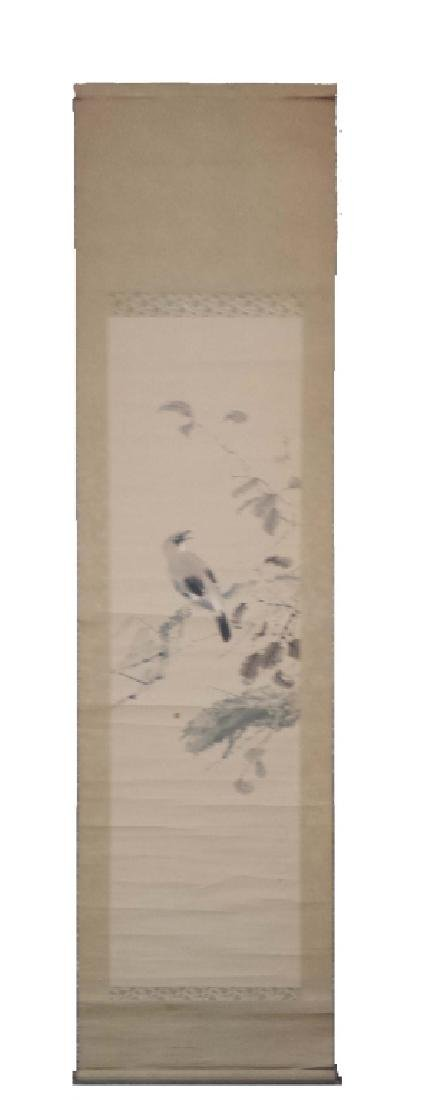 2 CHINESE SIGNED SCROLL PAINTINGS BIRD & LANDSCAPE - 6