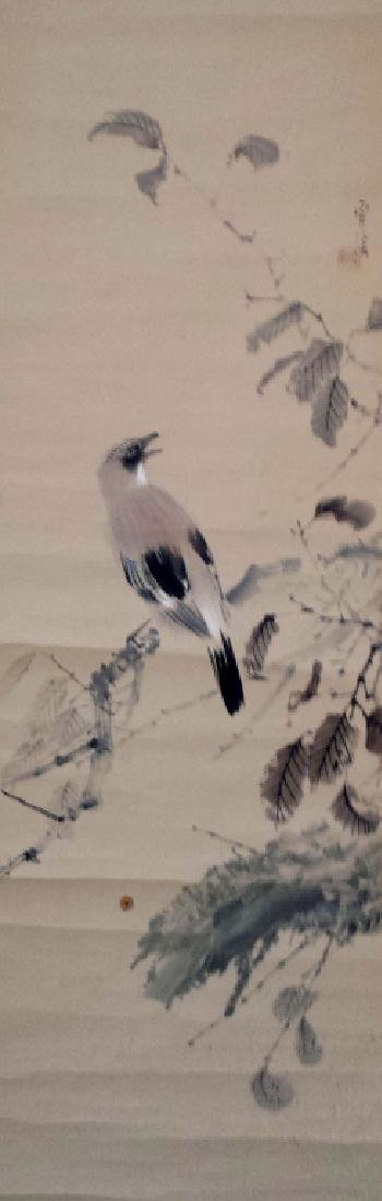 2 CHINESE SIGNED SCROLL PAINTINGS BIRD & LANDSCAPE - 7