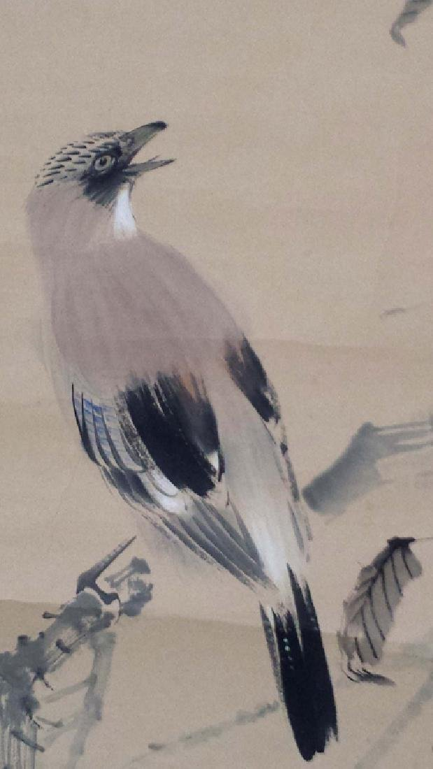 2 CHINESE SIGNED SCROLL PAINTINGS BIRD & LANDSCAPE - 8