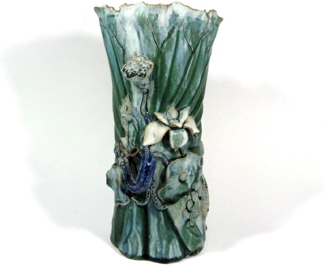 Chinese ceramic shiwan lotus carp vase vintage chinese ceramic shiwan lotus carp vase reviewsmspy