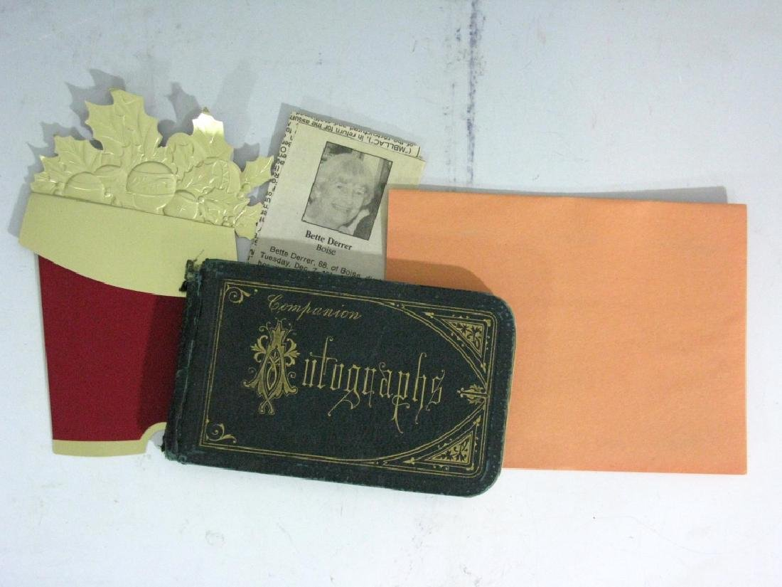 19th CENTURY COLLECTIBLE AUTOGRAPH BOOK