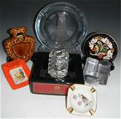 CIGAR AND CIGARETTE ASHTRAY AND LIGHTER COLLECTION