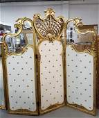 3 PANEL DRESSING SCREEN FRENCH ROCOCO LOUIS XVI