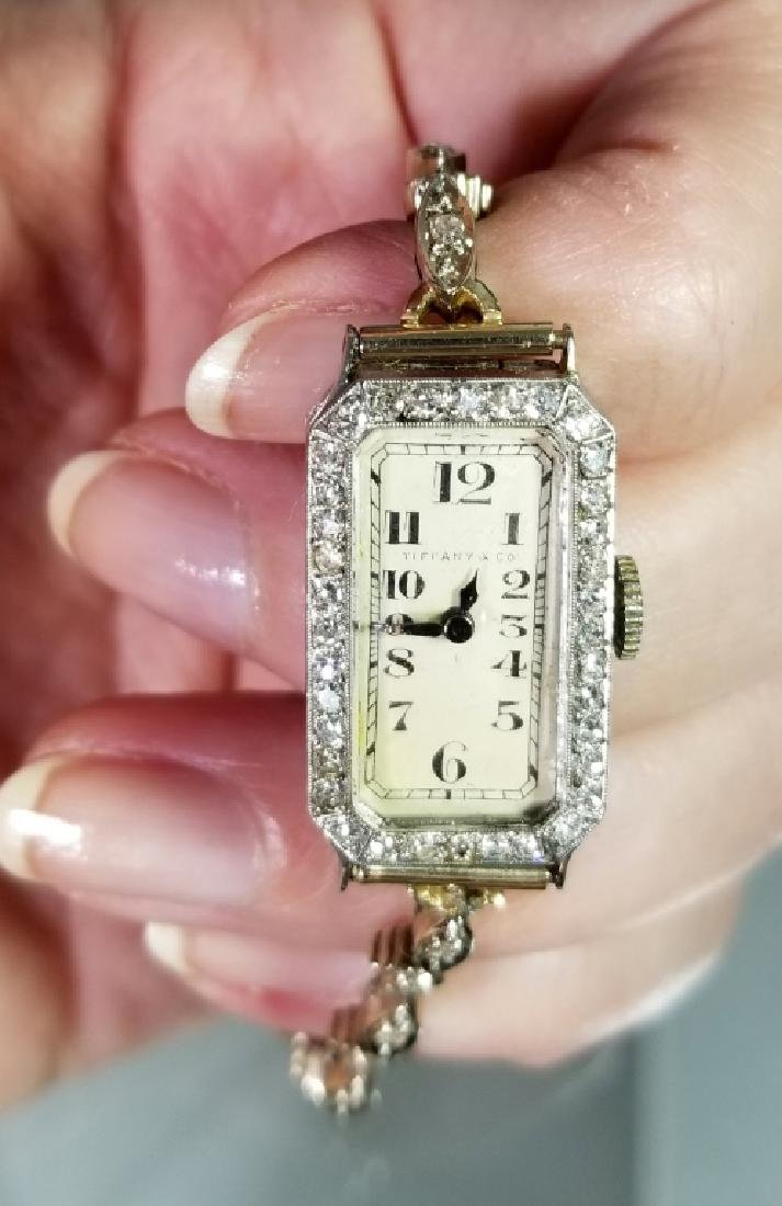 HAMILTON TIFFANY & CO PLATINUM & DIAMOND WATCH