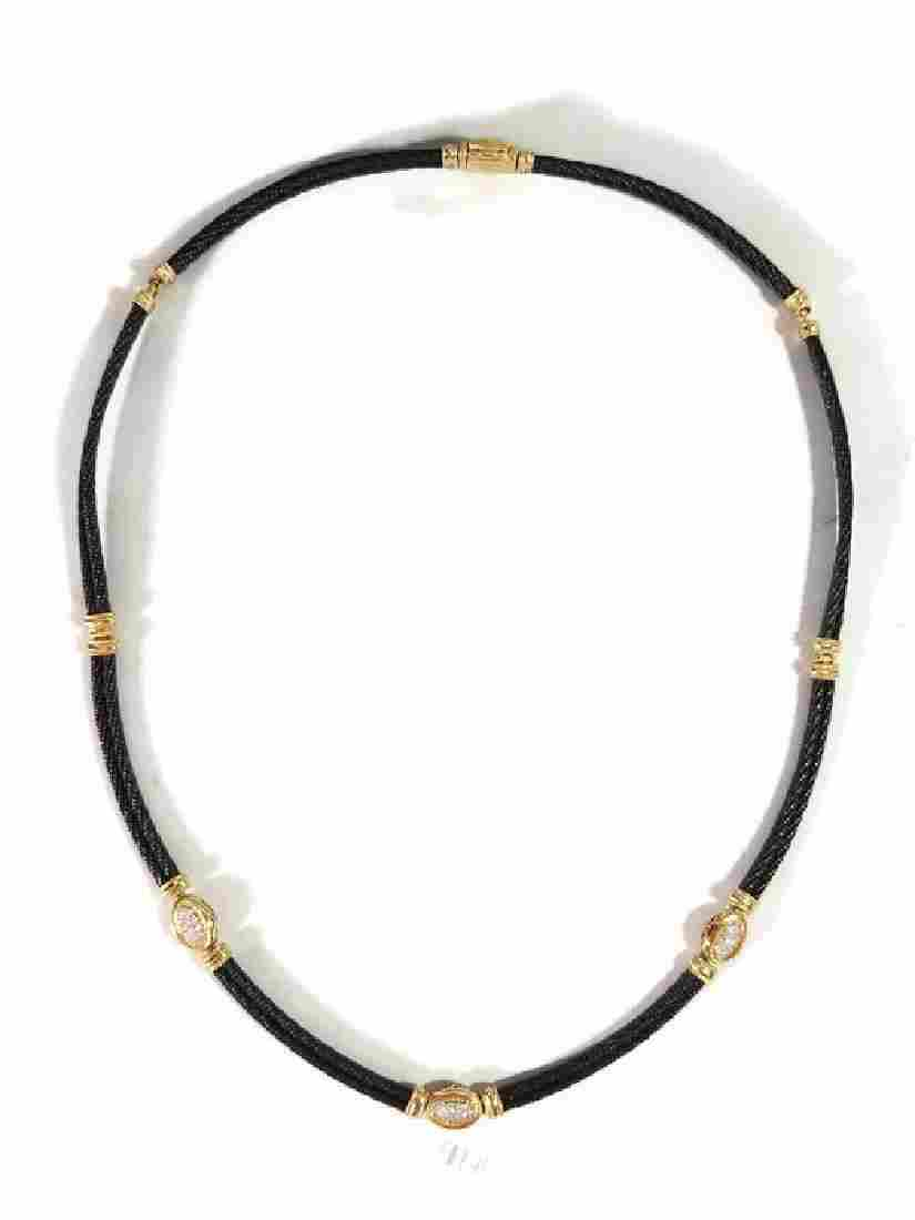 PHILLIPE CHARRIOL 18K GOLD AND DIAMOND NECKLACE