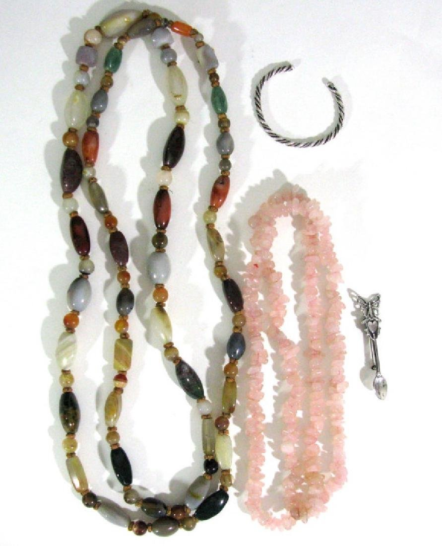 SEMI-PRECIOUS STONE NECKLACES & STERLING JEWELRY