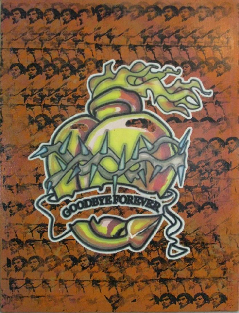 BAXTER GRAFFITI POP ART PAINTING GOODBYE FOREVER