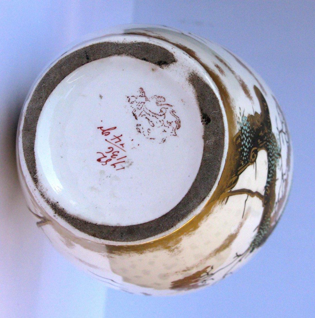 27: German, Franz Anton Mehlem Art Nouveau Ceramic Vase - 5