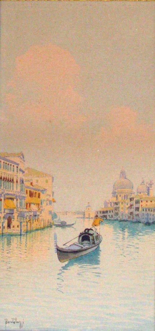 45: Bortoluzzi Venetian Gondolier Watercolor Painting