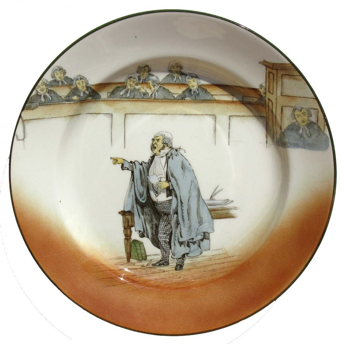 16: Pair of Royal Doulton Ceramic Dickens Rack Plates
