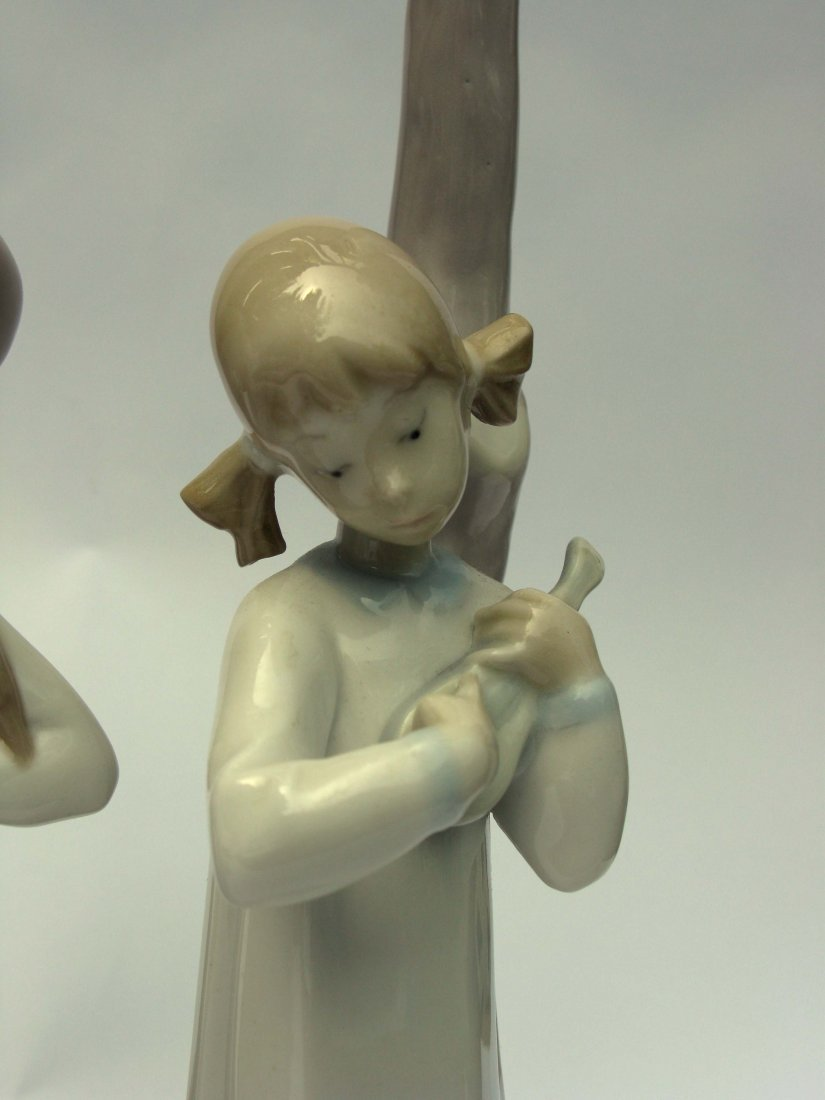 50: Pair of Nao by Lladro Porcelain Lamps - 2