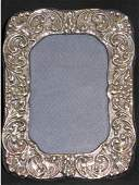 Sterling Silver Hallmarked Repousse Picture Frame