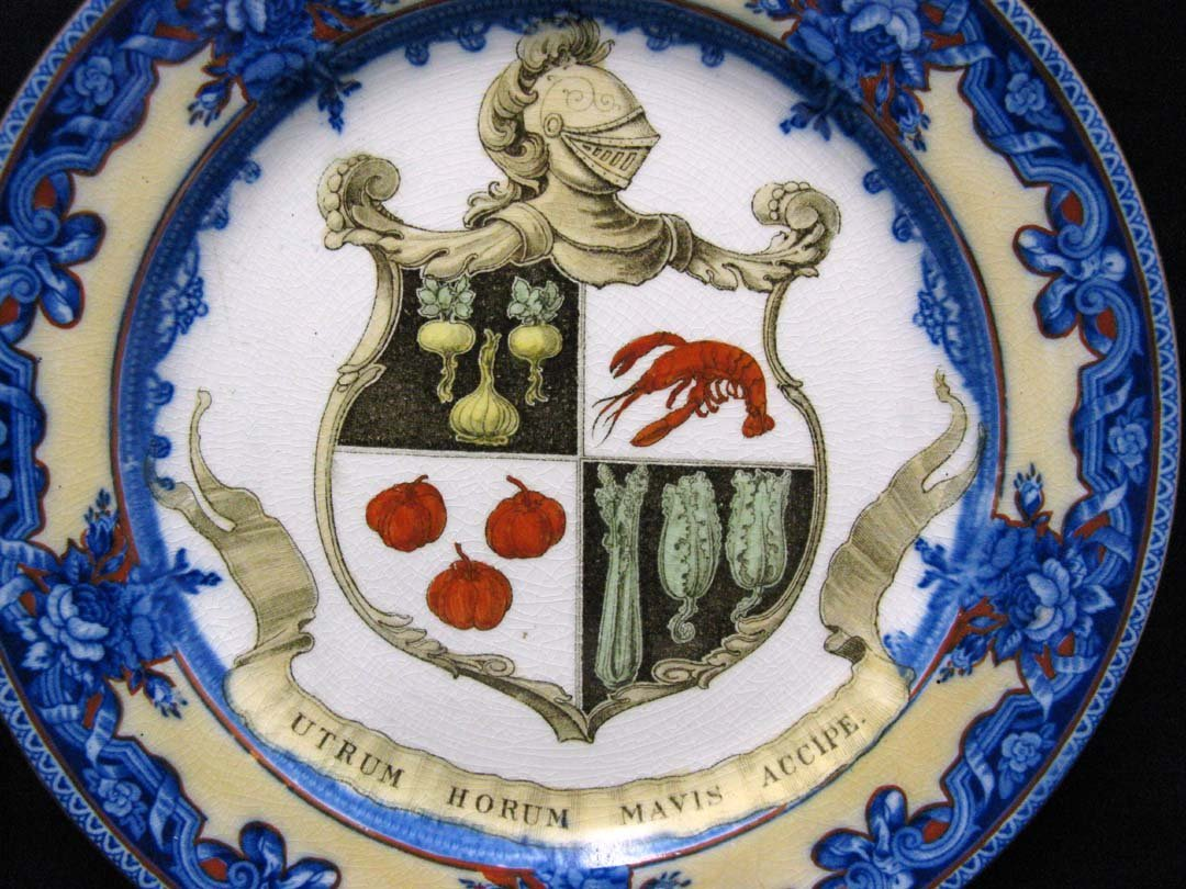 Royal Doulton Provence Pattern Plate with Crest