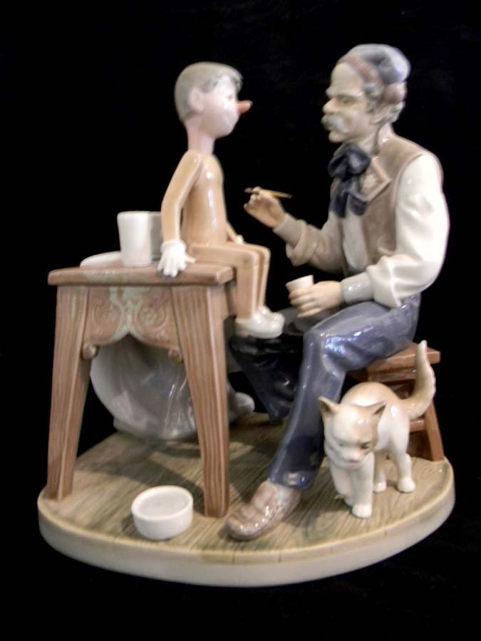 5396 Lladro Porcelain The Puppet Painter by Sculptor: