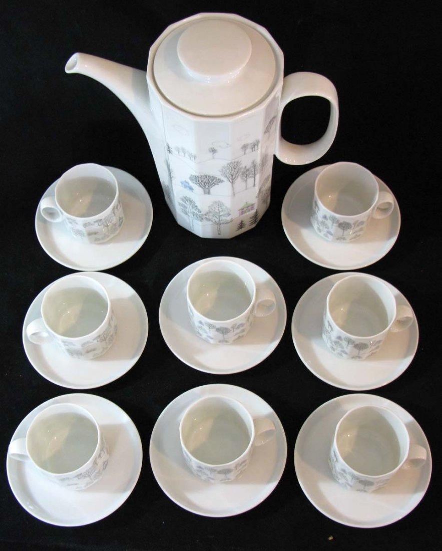 Rosenthal Winterreise Coffee 8 Espresso Cups Rut Bryk - 2