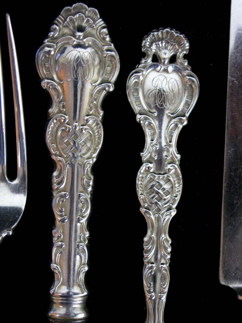 6 Sterling Forks & Knives, Wm Durgin, Regent Pattern - 3