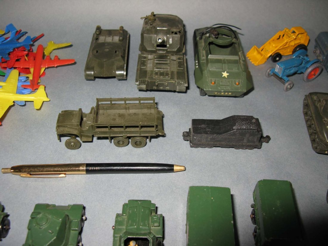 Lot Vintage Lesney Tootsie ROCO Military & Farm Toys - 5