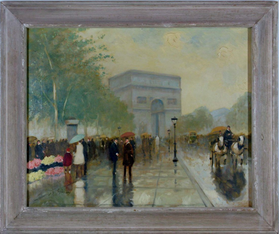 Andre Gisson Oil on Canvas Arc de Triomphe