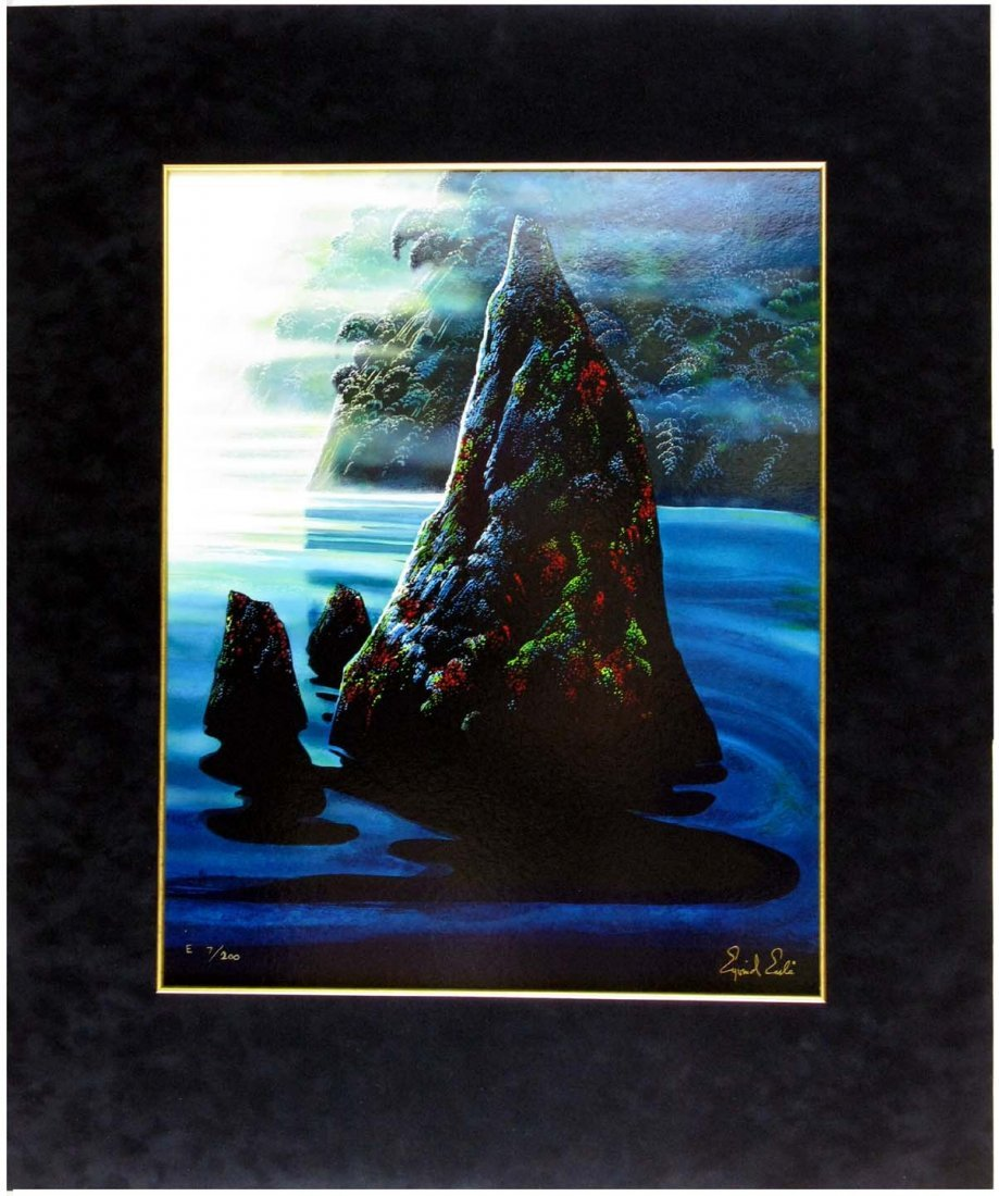 Eyvind Earle Serigraph The Rock