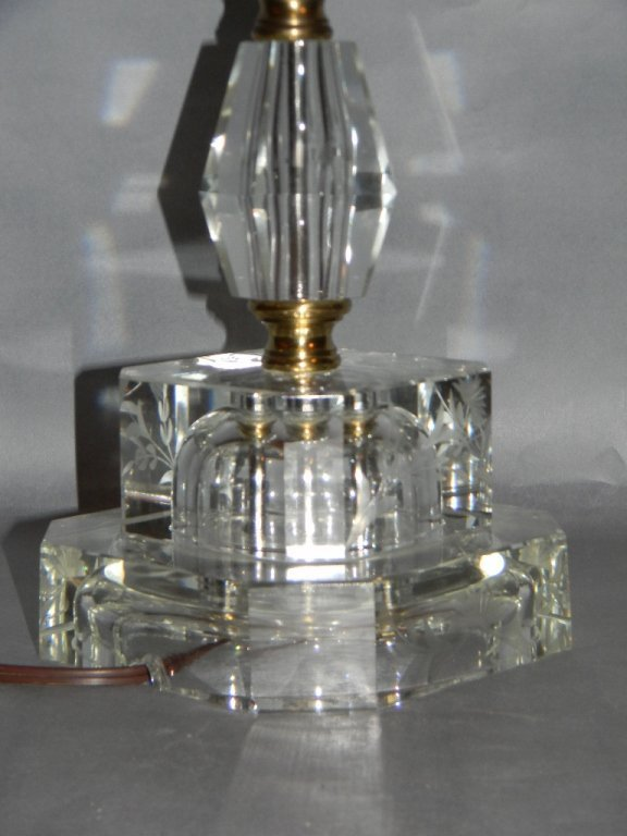 St. Clair Glass Lamp with Etched Glass Base - 4