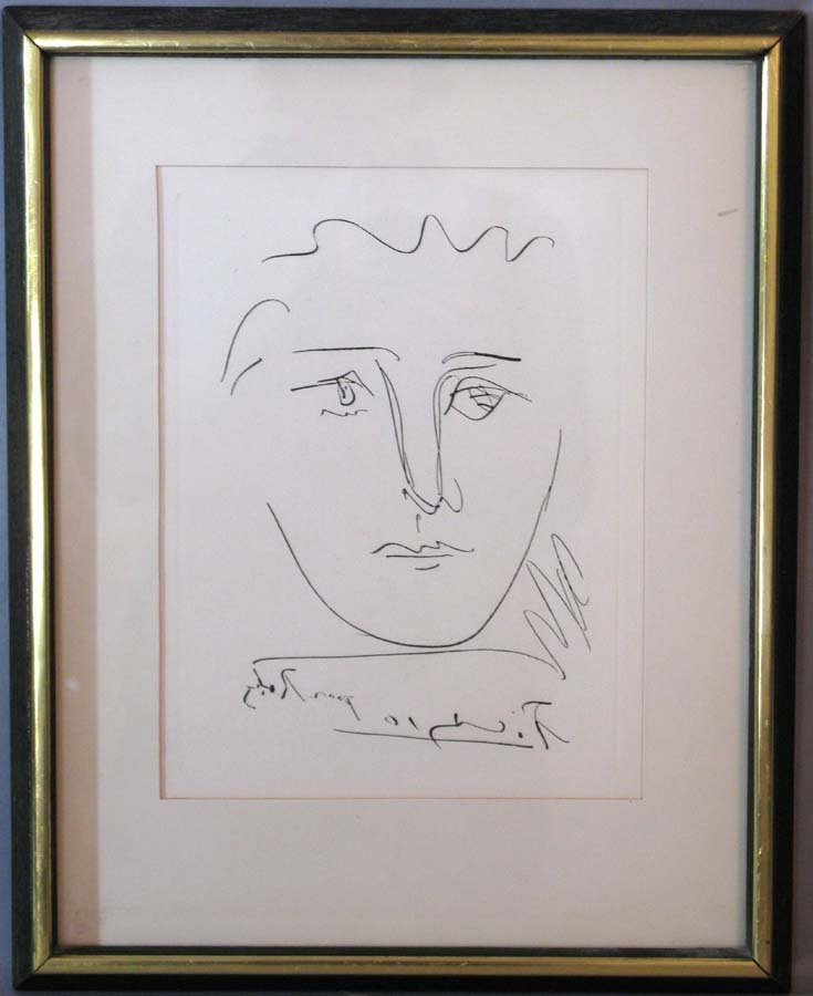 Picasso Vintage Pour Roby Etching