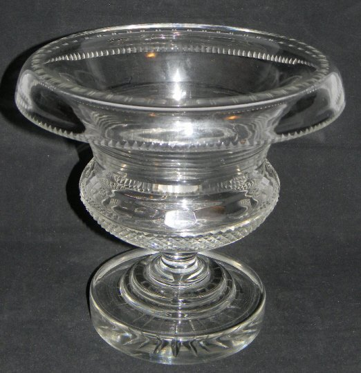 19th Waterford Glass Turnover Centerpiece Urn