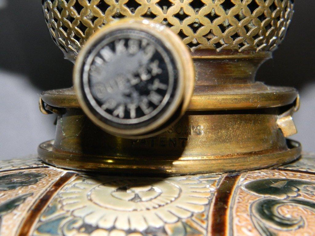 Doulton Lambeth Stoneware Oil Lamp Mark Marshall - 3