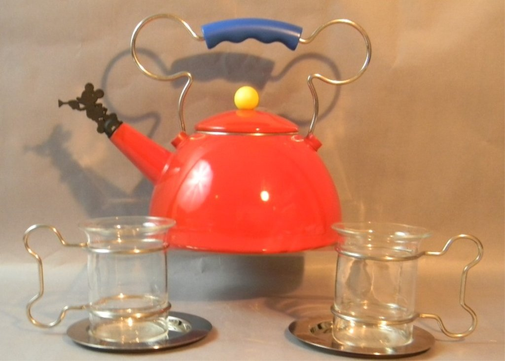 Mickey Mouse Disney Michael Graves Tea Pot & Cups