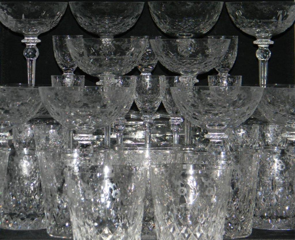 34 Rogaska Gallia Crystal Champagne, Cordial Glass - 2