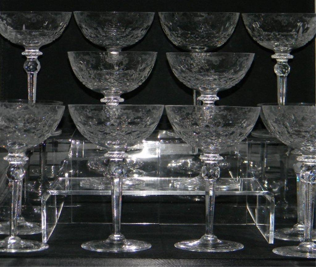 34 Rogaska Gallia Crystal Champagne, Cordial Glass - 3