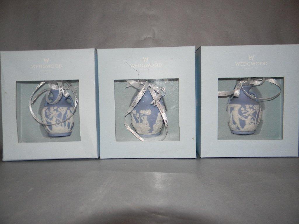 4 Waterford Lismore Bells & 4 Wedgwood Ornaments - 3