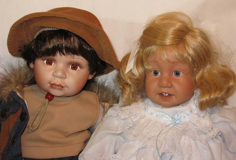 6 Porcelain Dolls Cathay, Geppeddo, Danbury Mint - 2