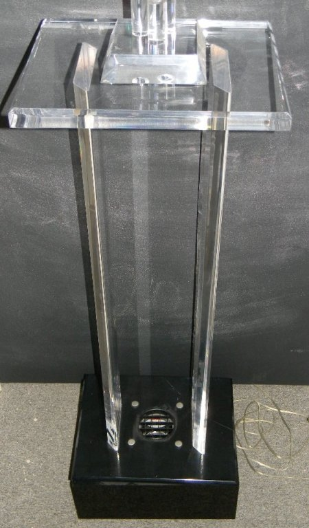 Cube Lighted Acrylic Sculpture Pedestal by Pease - 6