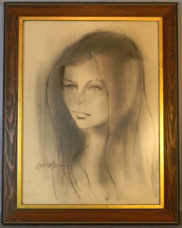 Anthony Scornavacca Charcoal Portrait of a Woman
