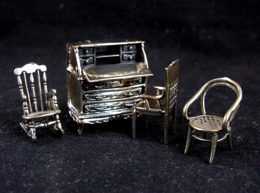 Italian Sterling Silver Doll House Furniture